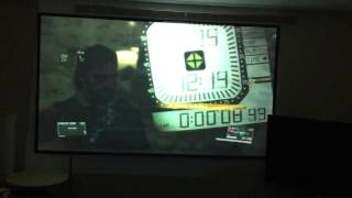 "Metal gear solid 100"" projector"