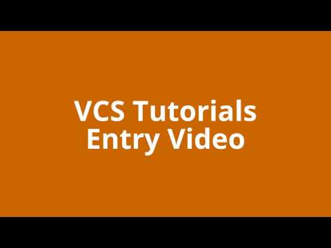 VCS Tutorials - Entry Video