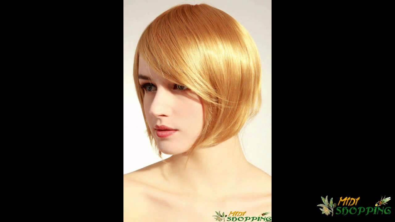Acheter perruques femme blonde brune coupe courte ou longue midi youtube - Coupe courte femme brune ...