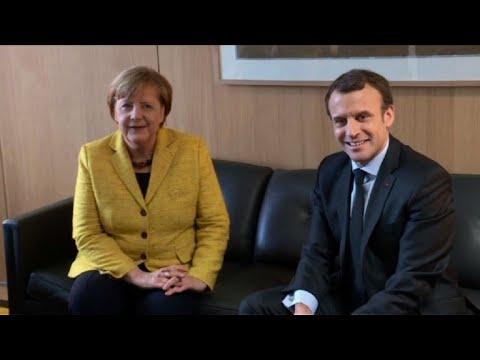Merkel and Macron hold bilateral at EU summit