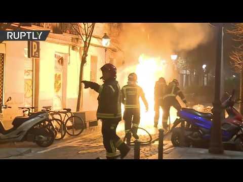 Disturbios e incendios en Madrid tras la muerte de un vendedor ambulante senegalés