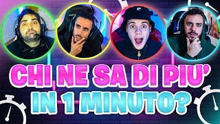 ⏱️ CHI NE SA DI PIÙ IN 1 MINUTO? Quiz vs Elites!