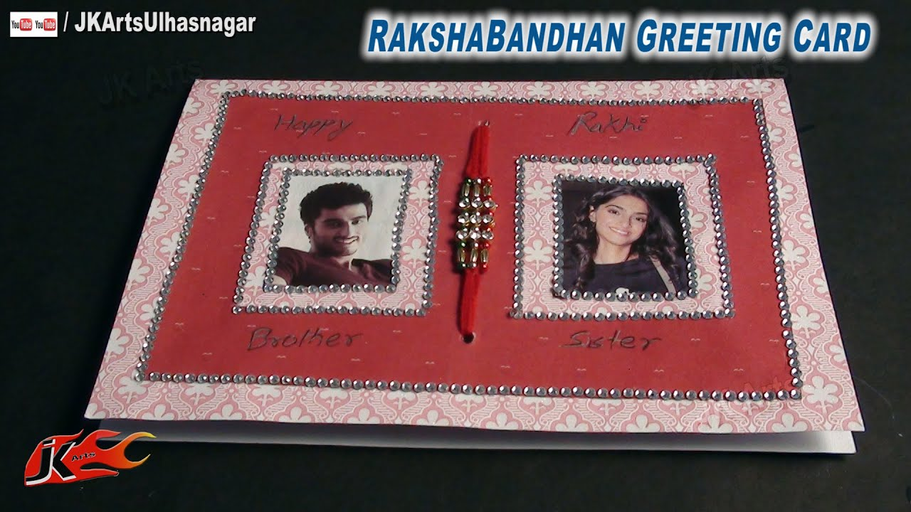 Diy Photo Frame Greeting Card For Raksha Bandhan How To Make Jk
