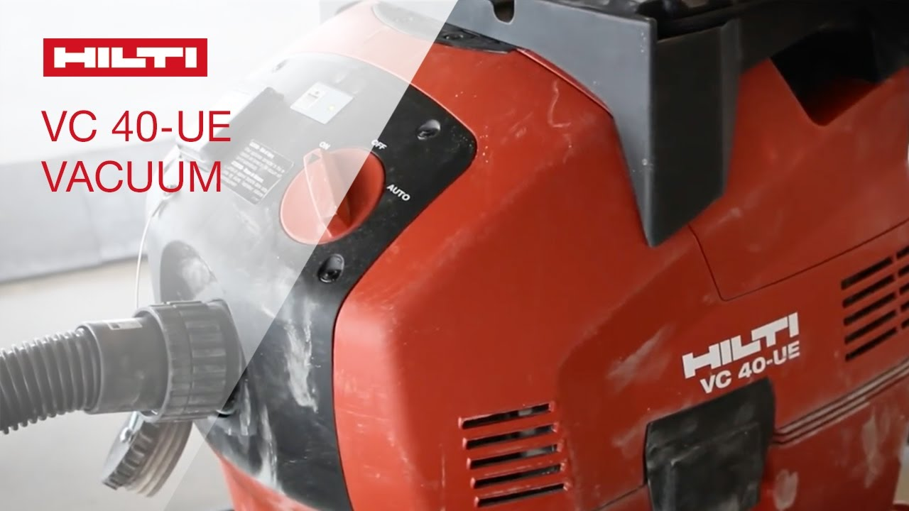 Introducing the hilti universal vacuum cleaner vc 40 ue for Cleaning concrete dust