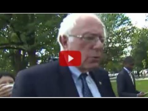 BERNIE SANDERS REFUSES TO ANSWER REPORTER ABOUT FBI INVESTIGATION!