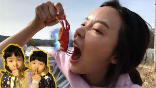 몰래 먹는 뽀로로짜장면과 마녀 곤충사냥! 뽀로로 짜장면 몰래먹기 거미잡기 spider 곤충으로 만든 마녀들의 마법물약 pretend play WITH INSECT for kids