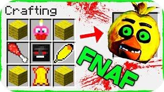 Minecraft FNAF - COMO INVOCAR A CHICA EN UNA MESA DE CRAFTEO!