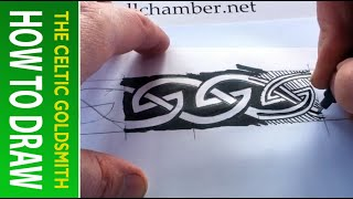 How to Draw Celtic Knots 12 - Border Triskele Lindisfarne - 2/2