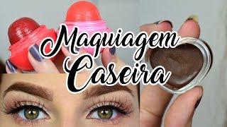 Video Maquiagem Caseira !! LipBalm com cor e Pasta para Sobrancelha RUIVA! download MP3, 3GP, MP4, WEBM, AVI, FLV Desember 2017