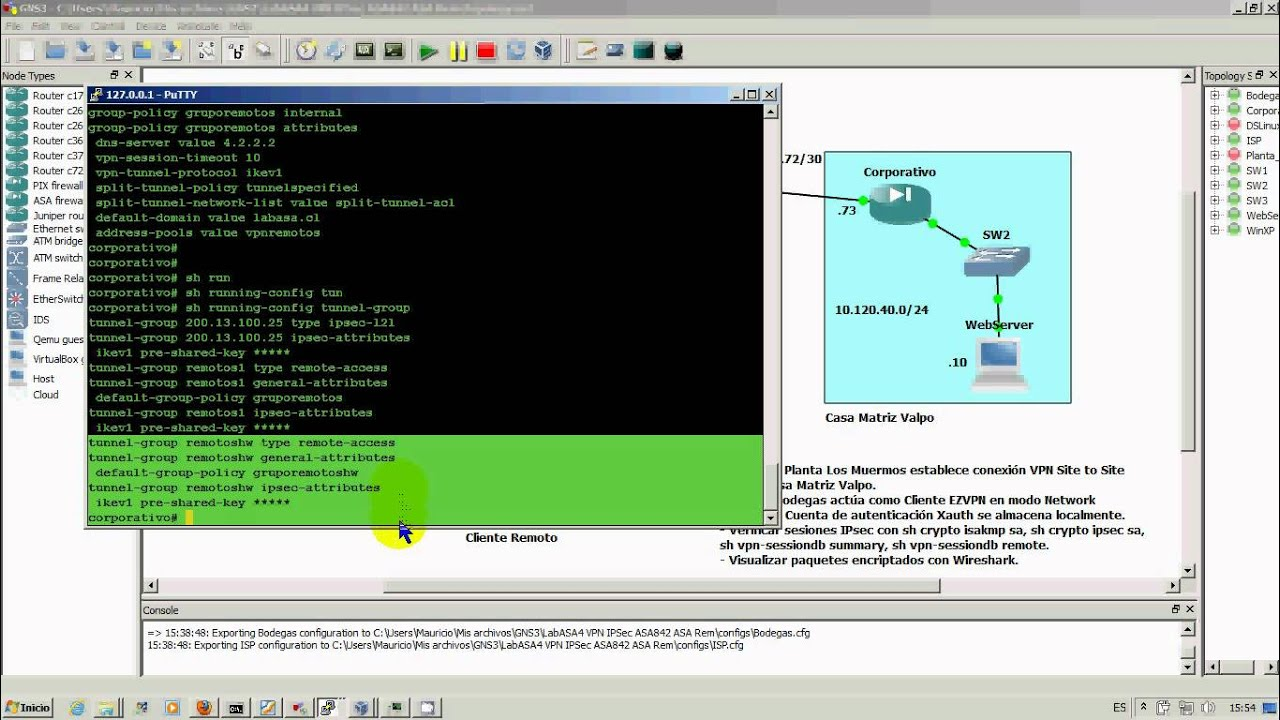 Preview Lab VPN IPsec EZVPN with ASA and router as client (hardware remote)  - GNS3