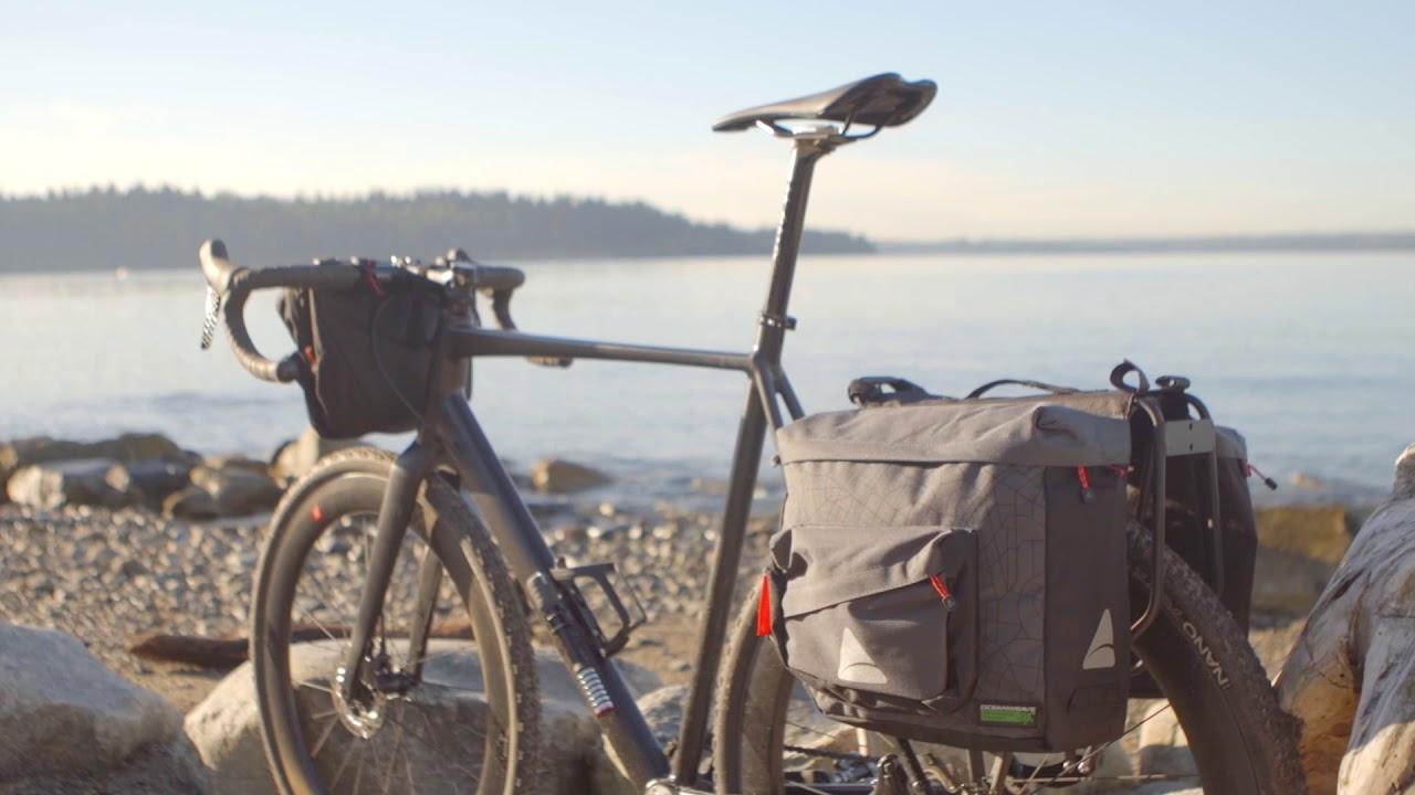 Axiom Seymour Oceanweave P25 Twin Bike Panniers Pair Commuter Bags Saddlebag NEW