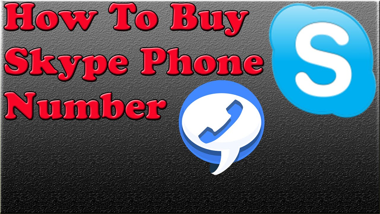 How to Buy Skype Phone Number - YouTube