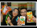 trying out asian snacks with my chinese bf