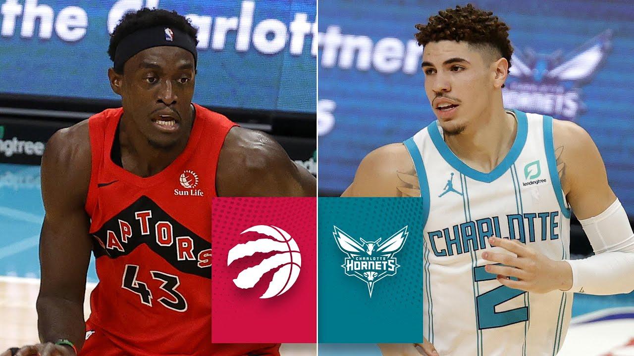 Toronto Raptors Vs Charlotte Hornets Lamelo Ball Drops Dimes In Debut Nba Preseason Highlights Youtube