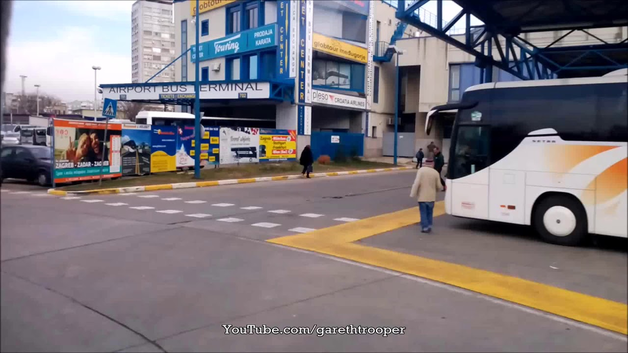 Bus Departure From Zagreb Main Bus Station Youtube