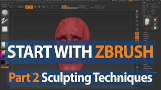 How to Start with ZBrush - Sculpting Techniques - Part 2