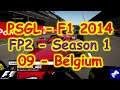 PSGL [FP2] - F1 2014 PS3 - Season 1 Round 09 - Belgium - Highlights 22/01/2015