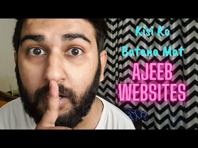 Ajeeb Websites 😳 - Weird Websites On The Internet You Should Visit - Hindi - AsliSachin