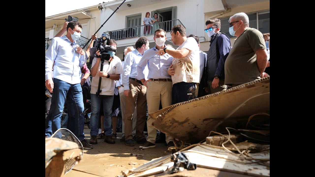 Δήλωση κατά την επίσκεψη στις πληγείσες περιοχές του Νομού Καρδίτσας