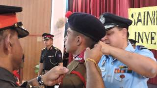 Sainik School, Bijapur, Appointments, School Captain Pramod, 9 June 2014