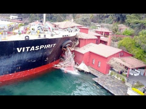 Ship that crashed into Istanbul waterfront mansion moored in Marmara Sea