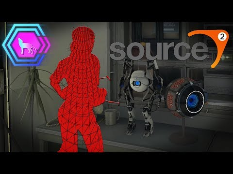 Source 2 Chell wire-frame model | SteamVR Performance Test