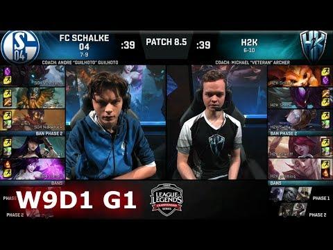 FC Schalke 04 vs H2K Gaming | Week 9 Day 1 of S8 EU LCS Spring 2018 | S04 vs H2K W9D1 G1