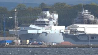 HMS Queen Elizabeth  Aircraft Carrier  Firth Of Forth Rosyth Fife Scotland