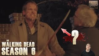 The Walking Dead Season 6 - Who's Blood was on the Sword? T2 Q and A 5!