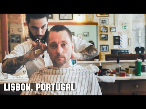HairCut Harry's Lisbon Portugal HairCut Experience at Figaros Barbershop