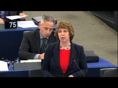 Catherine Ashton - Statement on Egypt (Part 1), European Parliament, 11 September 2013