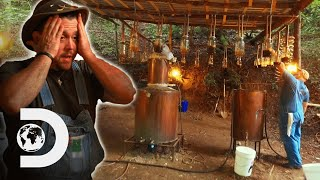 The Fig Moonshine Rig Nearly Explodes! | Moonshiners