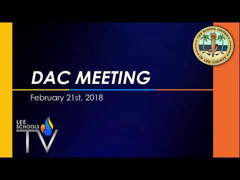 District Advisory Council Meeting - February 21, 2018