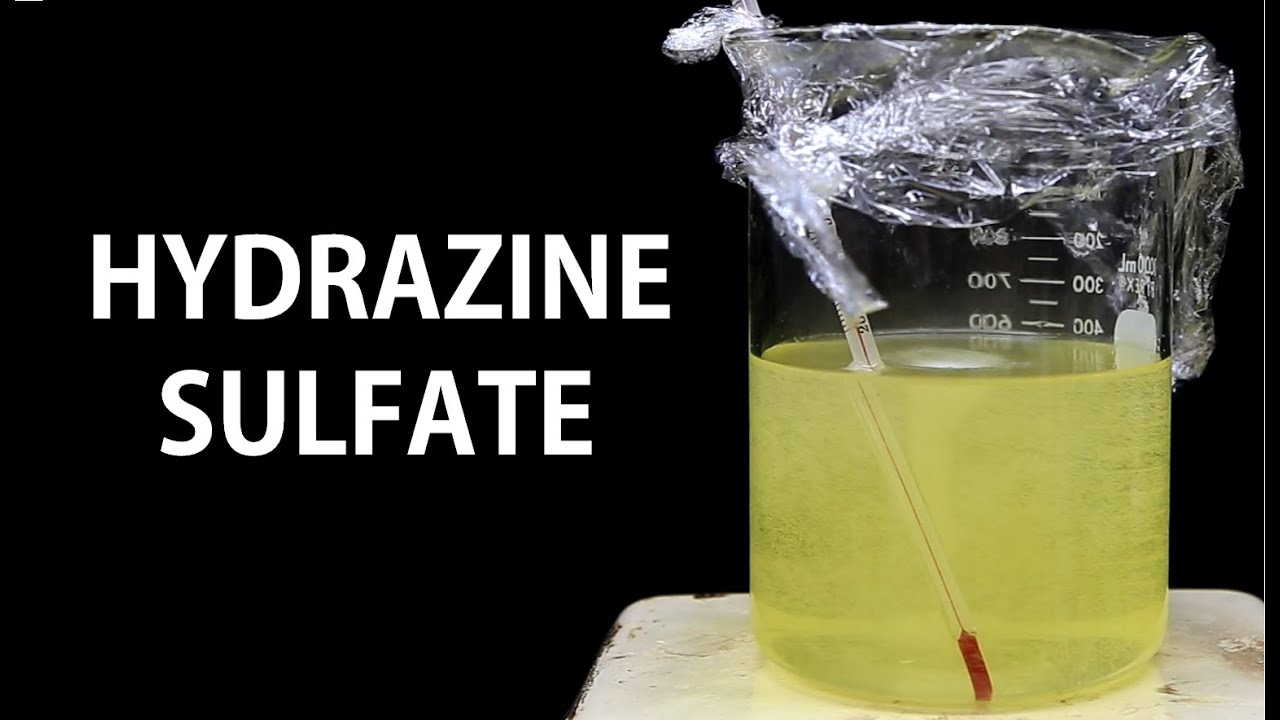 Making Hydrazine Sulfate from Urea and Bleach - YouTube