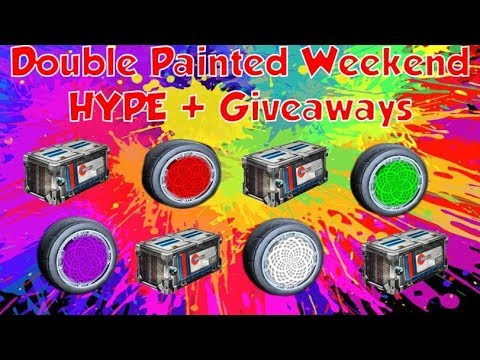 Double Painted Weekend Hype **Insane Giveaways And Crate Openings** Epic Subsgames And Trades