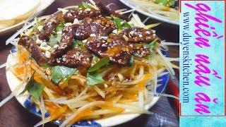 Cách Làm Gỏi Đu Đủ Khô Bò Chay By Duyen's Kitchen | Ghiền Nấu Ăn