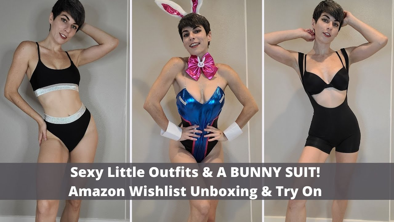Sexy Little Outfits & A BUNNY SUIT! Amazon Wishlist Unboxing & Try On