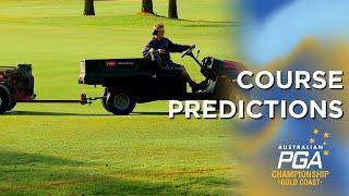 Course Predictions - 2019 Australian PGA Championship