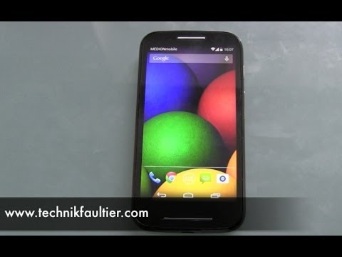 Motorola Moto E einrichten und erster Eindruck