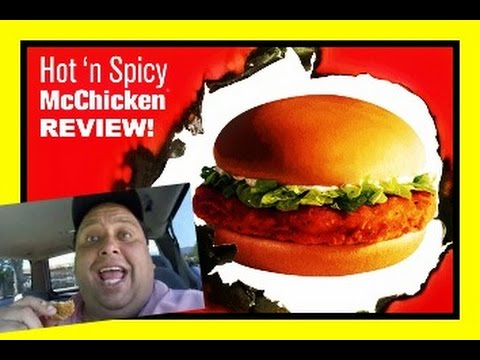 Mcdonald's Hot 'n Spicy McChicken® REVIEW! - YouTube