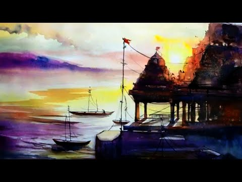 Varanasi Watercolor Demo By Jagadeesh Narayanan
