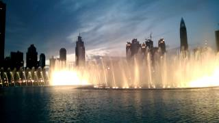 Dubai fountains 2016 uae