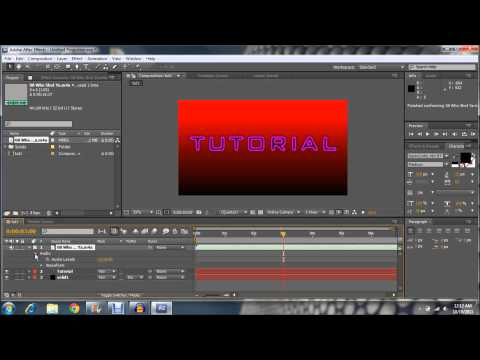 Adobe After Effects CS5: How to add audio to your intro!