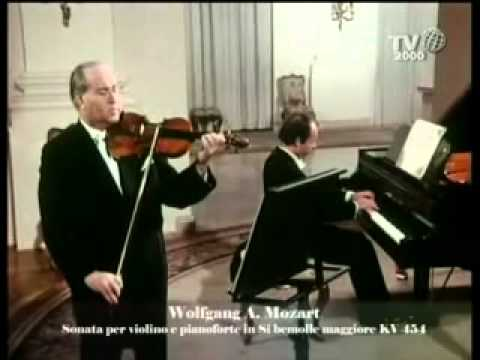 Mozart, Sonata for piano and violin KV 454 - Ojstrach, Badura-Skoda 1/2