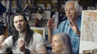 "[German] Boris Vallejo and Julie Bell on painting Andrew W.K.'s album cover, ""You're Not Alone"""