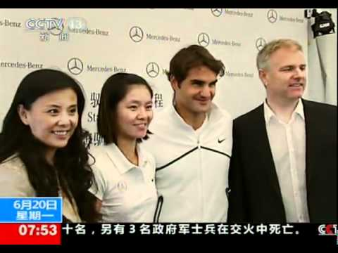 "Roger Federer said ""Go! Li Na"" in Chinese"