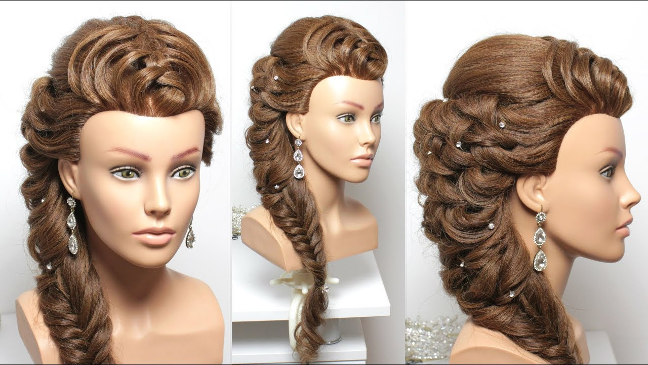Beautiful Fancy Hairstyle For Long Hair Youtube