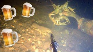 Подводная охота на раков