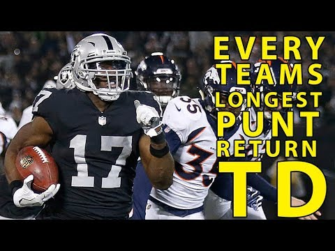 Every NFL Team&39;s Longest Punt Return for a Toucown Since 1980