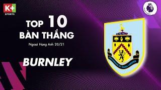 BURNLEY | TOP 10 BÀN THẮNG ĐẸP NHẤT MÙA GIẢI | NGOẠI HẠNG ANH 2020/2021